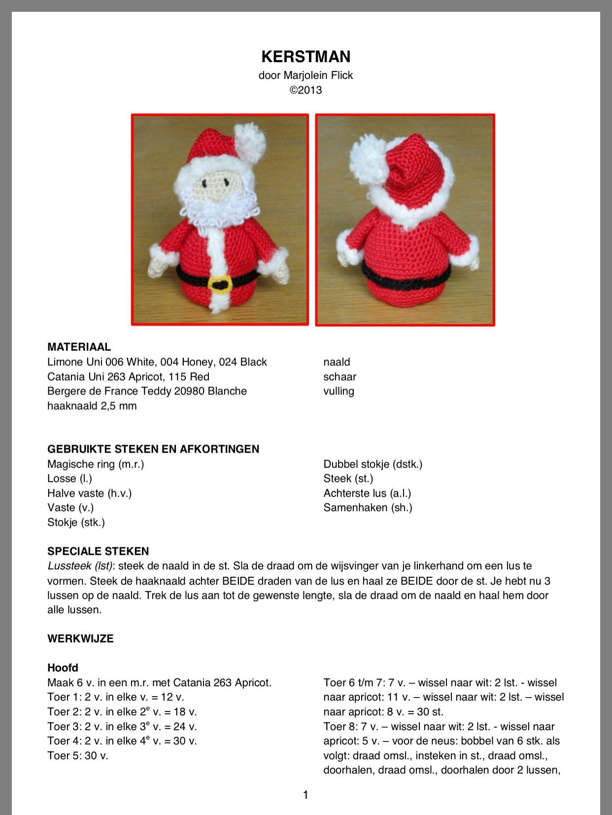 Kerstman Kerst Haken Pinterest Christmas Christmas Ornaments