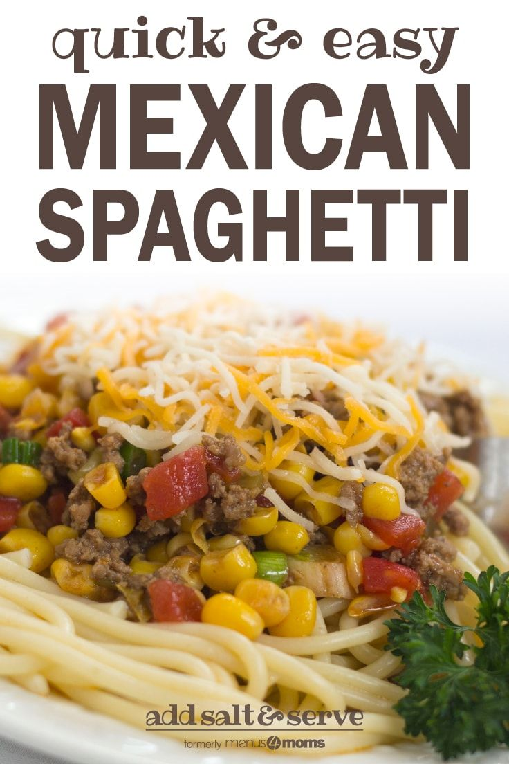 Mexican Spaghetti | Add Salt & Serve