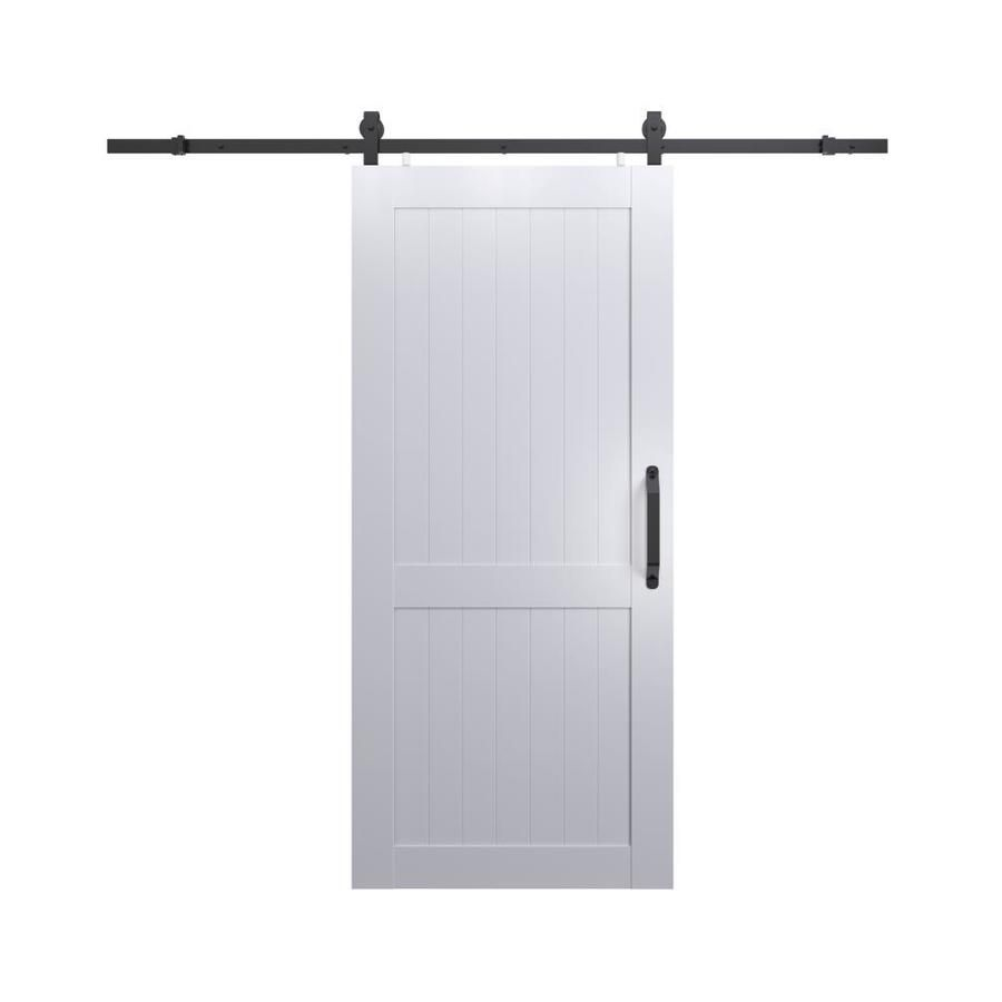 Pinecroft White Prefinished 2 Panel Pvc Barn Door Hardware