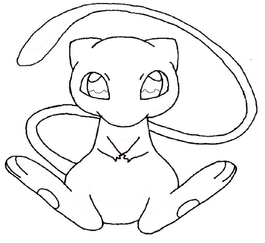 Mew Coloring Pages For Kids Educative Printable Fun Coloring