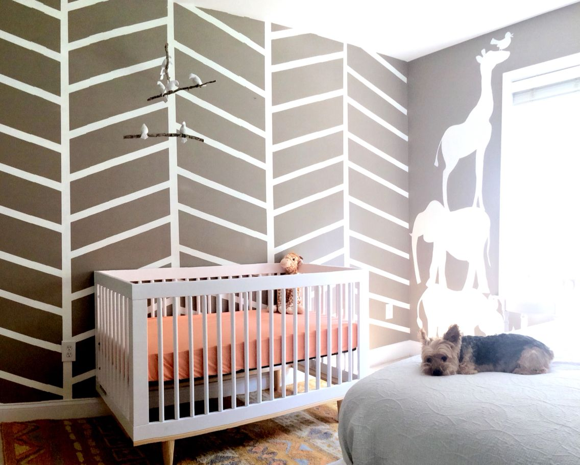 Baby Girl Nursery   Safari Theme. Baby Mod Marley 3 In 1 Convertible