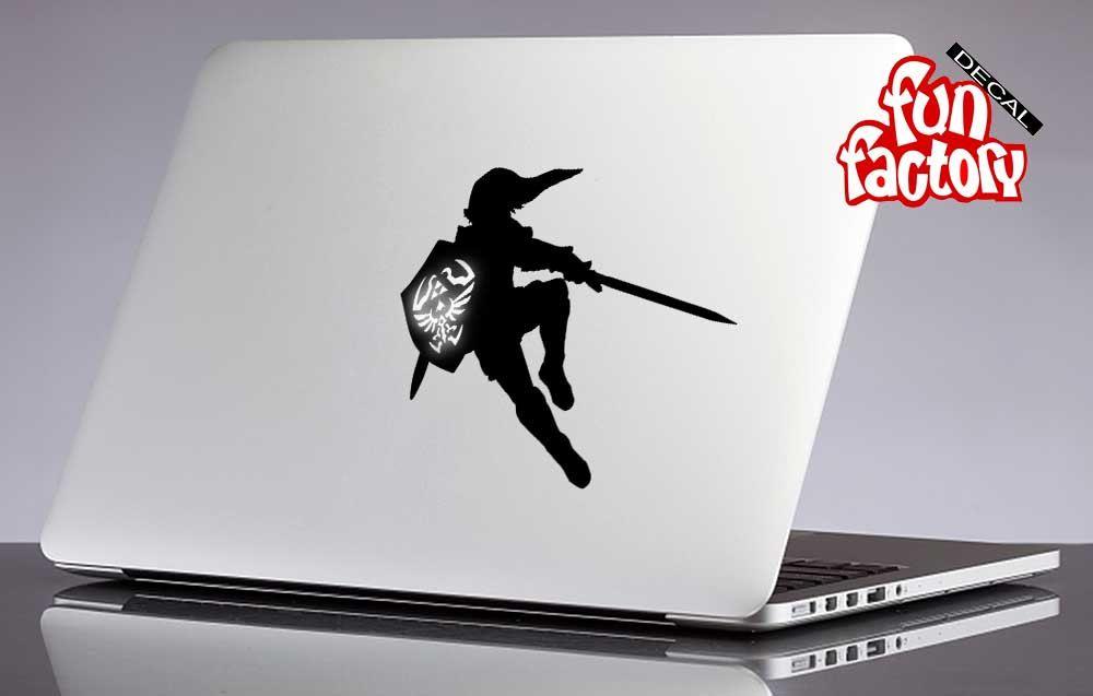 Legend of zelda link macbook decal sticker 0195mac by fundecalfactory on etsy