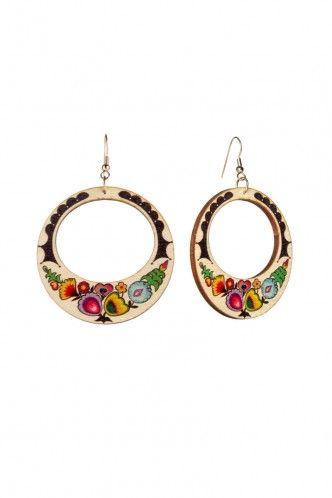 Folk Art Hoop Earrings