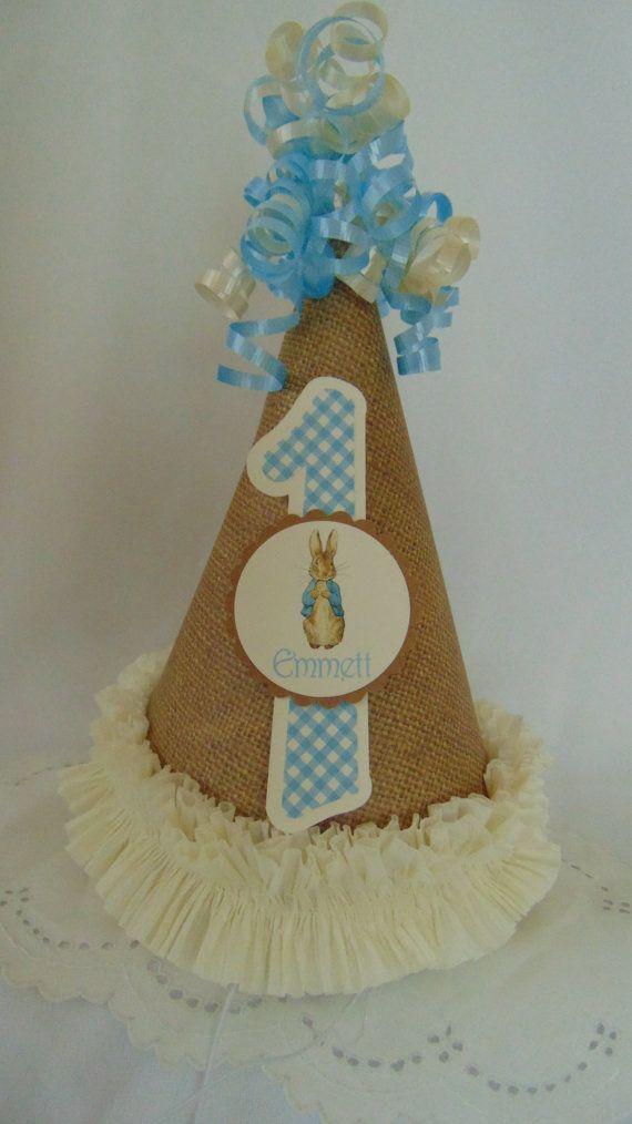 Peter Rabbit Birthday Party Hat Easter Decorations Beatrix Potter Burlap