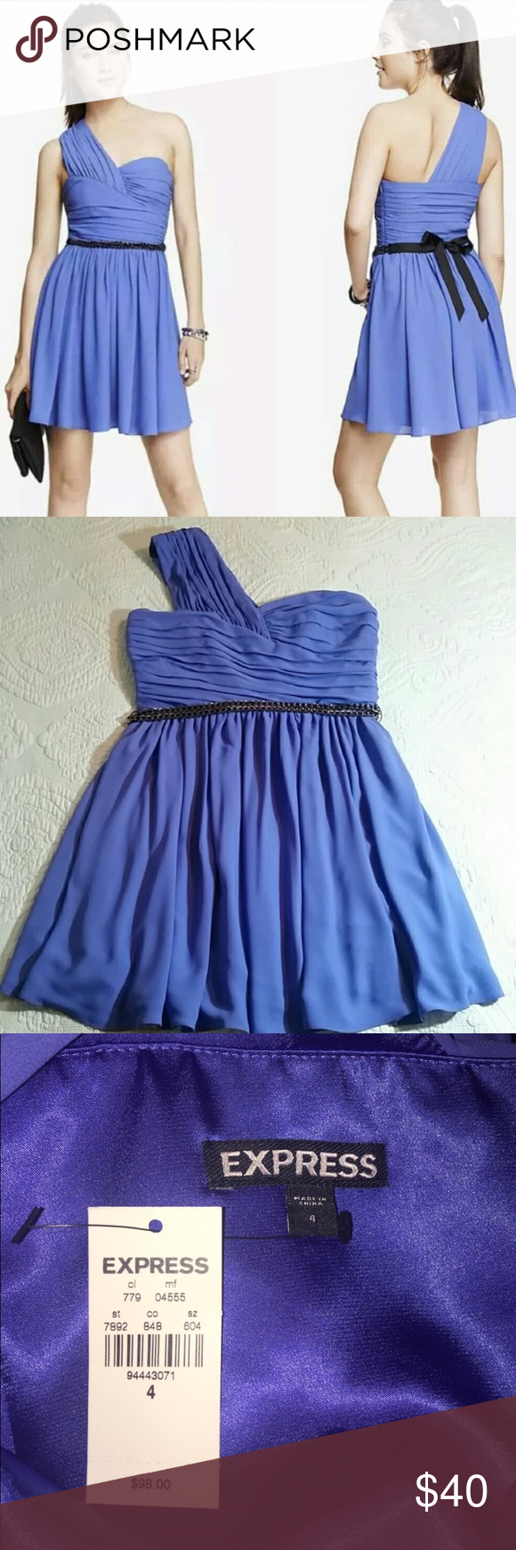 NWT Periwinkle Express Dress   Express dresses, Shoulder and ...