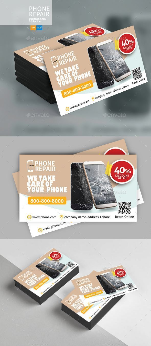 Smartphone Repair #Business #Card - Business Cards Print Templates ...
