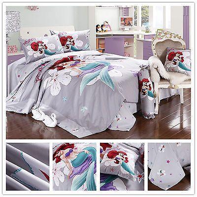 Details about DISNEY little Mermaid bedding set twin full ...