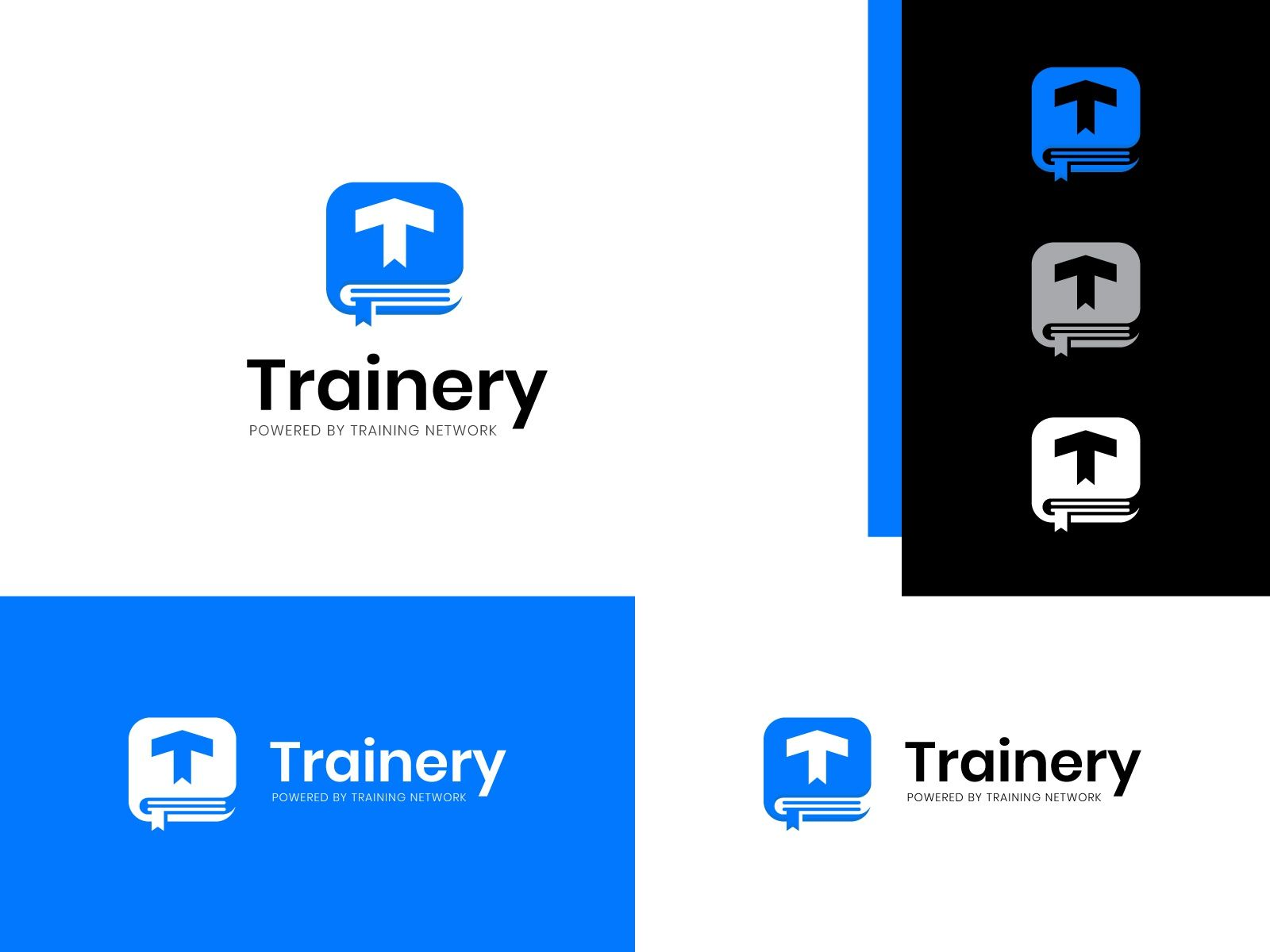 Trainery Logo Concept In 2020 Logo Concept Learning Logo Education Logo Design