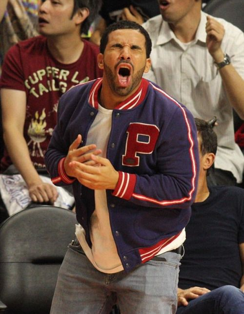 Mybodymyblog Drake At The Clippers Vs Warriors Game In Los Drake Drake Meme Old Drake