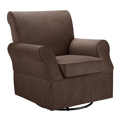 Tremendous Dorel Kaylee Swivel Glider And Ottoman Chocolate Baby Of Machost Co Dining Chair Design Ideas Machostcouk