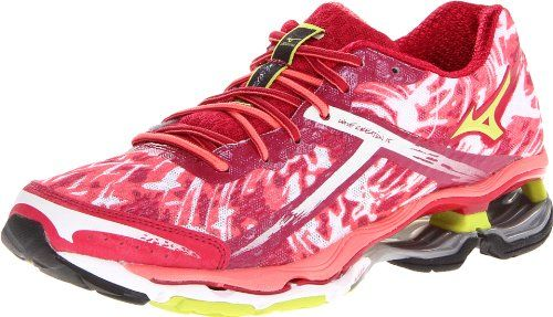 Mizuno Women's Wave Creation 15 Running Shoe,Cerise/Lime Punch/Sugar Coral,
