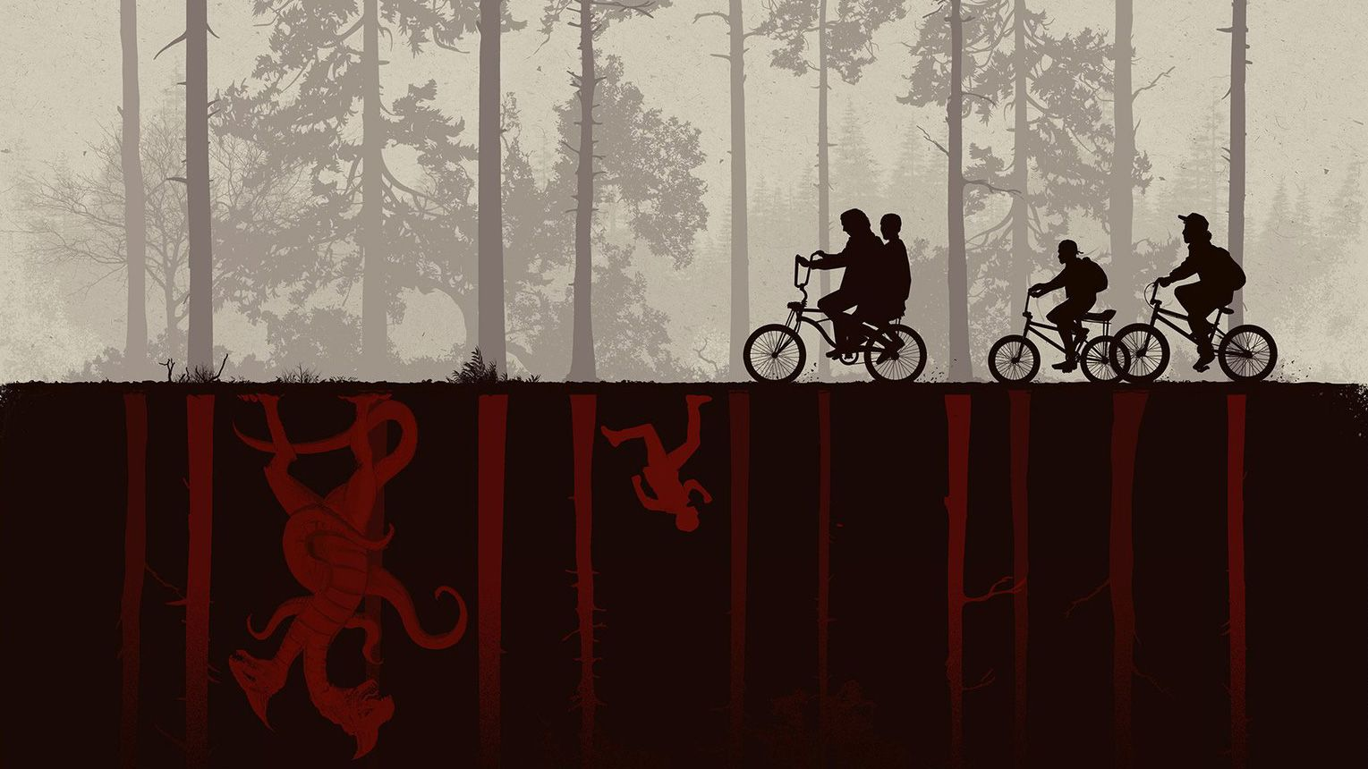 11 Fantastic Pieces Of Stranger Things Art Papel De Parede Do Notebook Papel De Parede Pc Papeis De Parede Pc