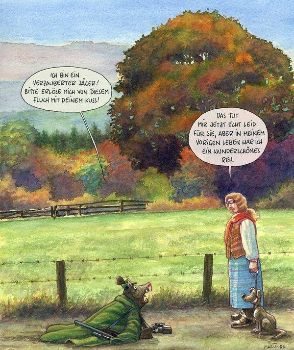 Jagd - MARUNDE | Cartoons & Illustrationen von Wolf