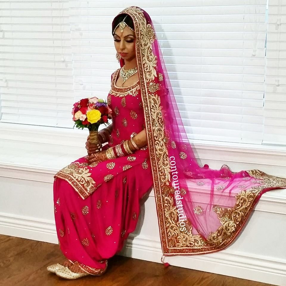 beautiful bride, Japleen wear traditional salwar suit | Punjabi ...