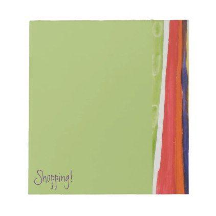 Decorative Stripes - Shopping List Notepad