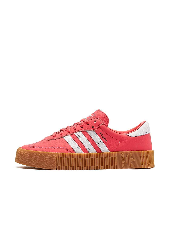 Adidas Sambarose W 42Schuheamp; Gum Handtaschen Red Shock White 3R5jL4A