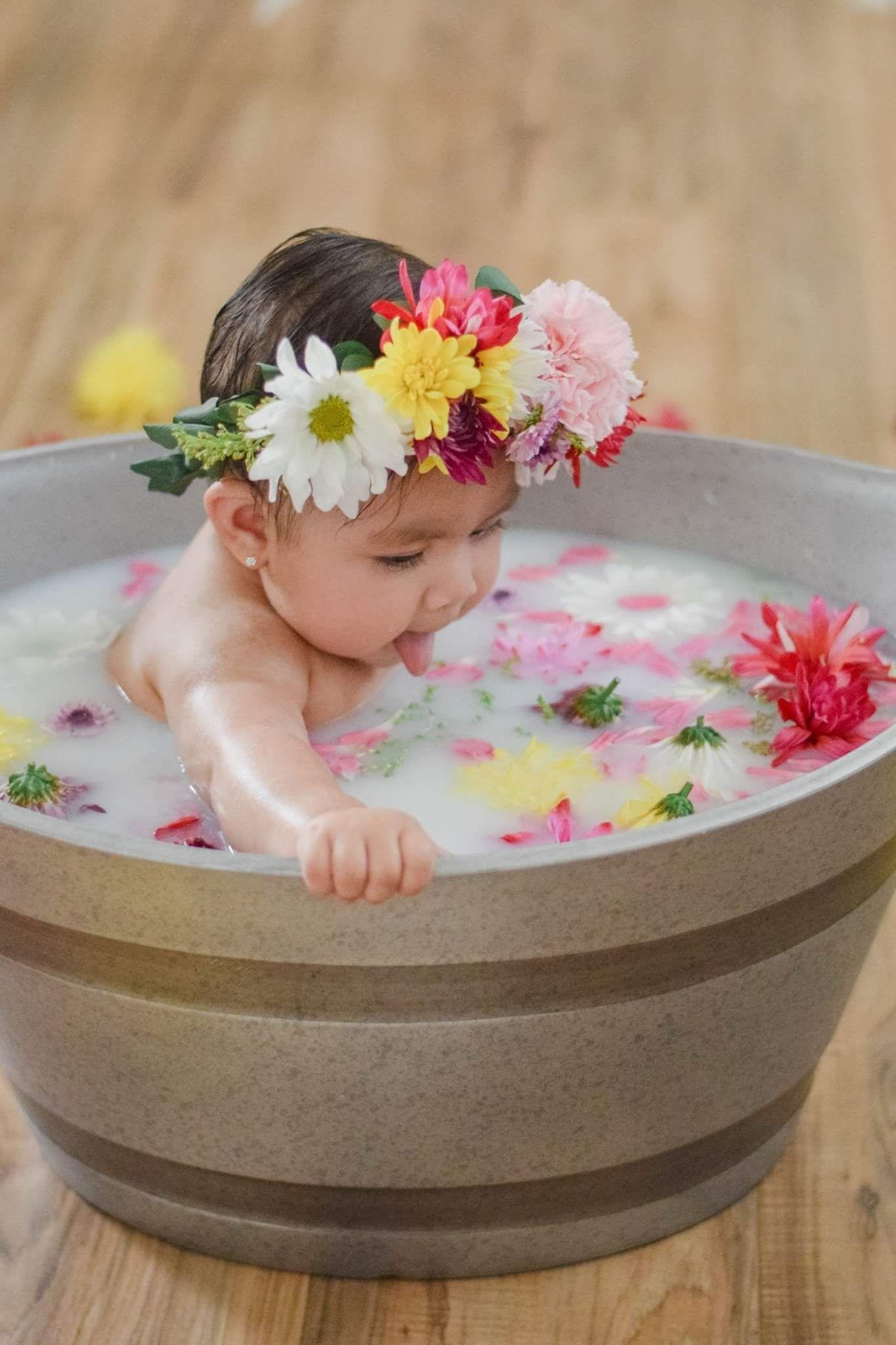 Milk bath photography #milkbath