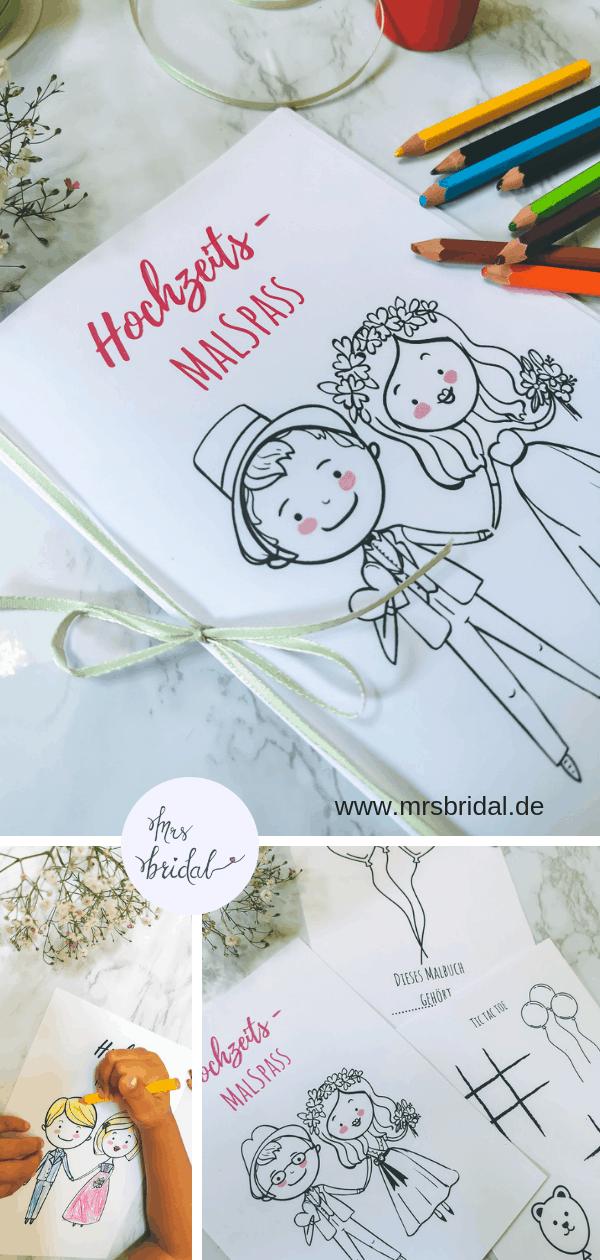 Süßes Hochzeitsmalbuch als PDF Download – kostenlos – Mrs Bridal