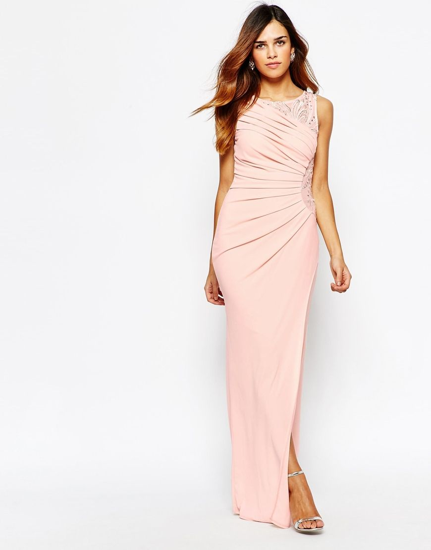 Lipsy VIP Embellished Maxi Dress With Ruched Detail | short proms ...
