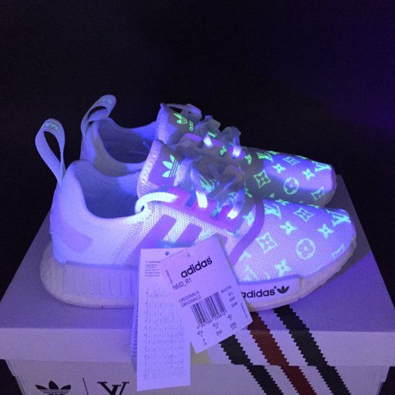 d88d6d34b801 adidas nmd glow in the dark rave gucci bee style paint louis