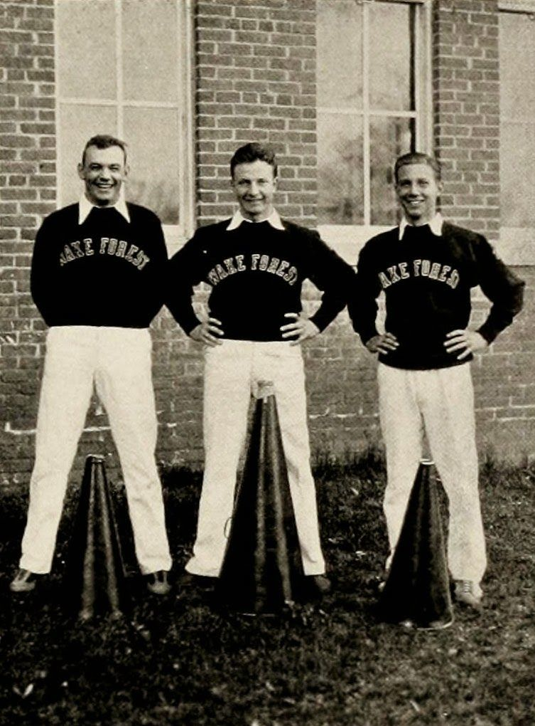 vintage everyday: Vintage Photos of Cheerleaders in North Carolina