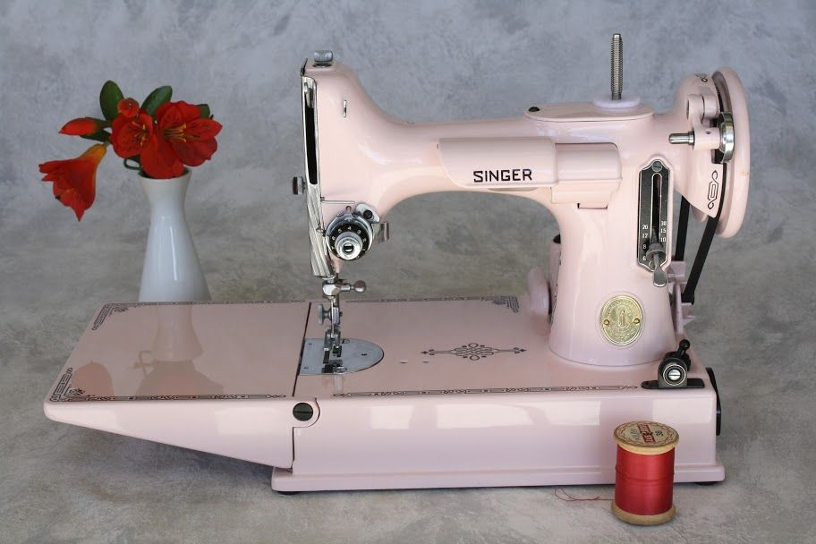 Light Pink Restored Vintage Sewing Machine I Would Love To Have Simple Featherlite Sewing Machine Pink