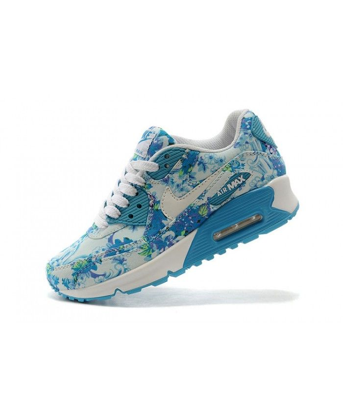 competitive price 78680 5261d Nike Air Max 90 Blue Floral Rose Sale Is a specifically designed for women,  outdoor sports shoes, style is very beautiful, very breathable.