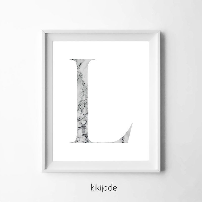 Letter L Instant Download Digital Print Nursery Print Marble Alphabet Letter Home Decor Persona Printable Artwork Personalized Wall Art Online Print Shop