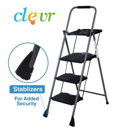 Sensational 3 Step Ladder W Work Tray 4 5Ft Platform Lightweight Pabps2019 Chair Design Images Pabps2019Com