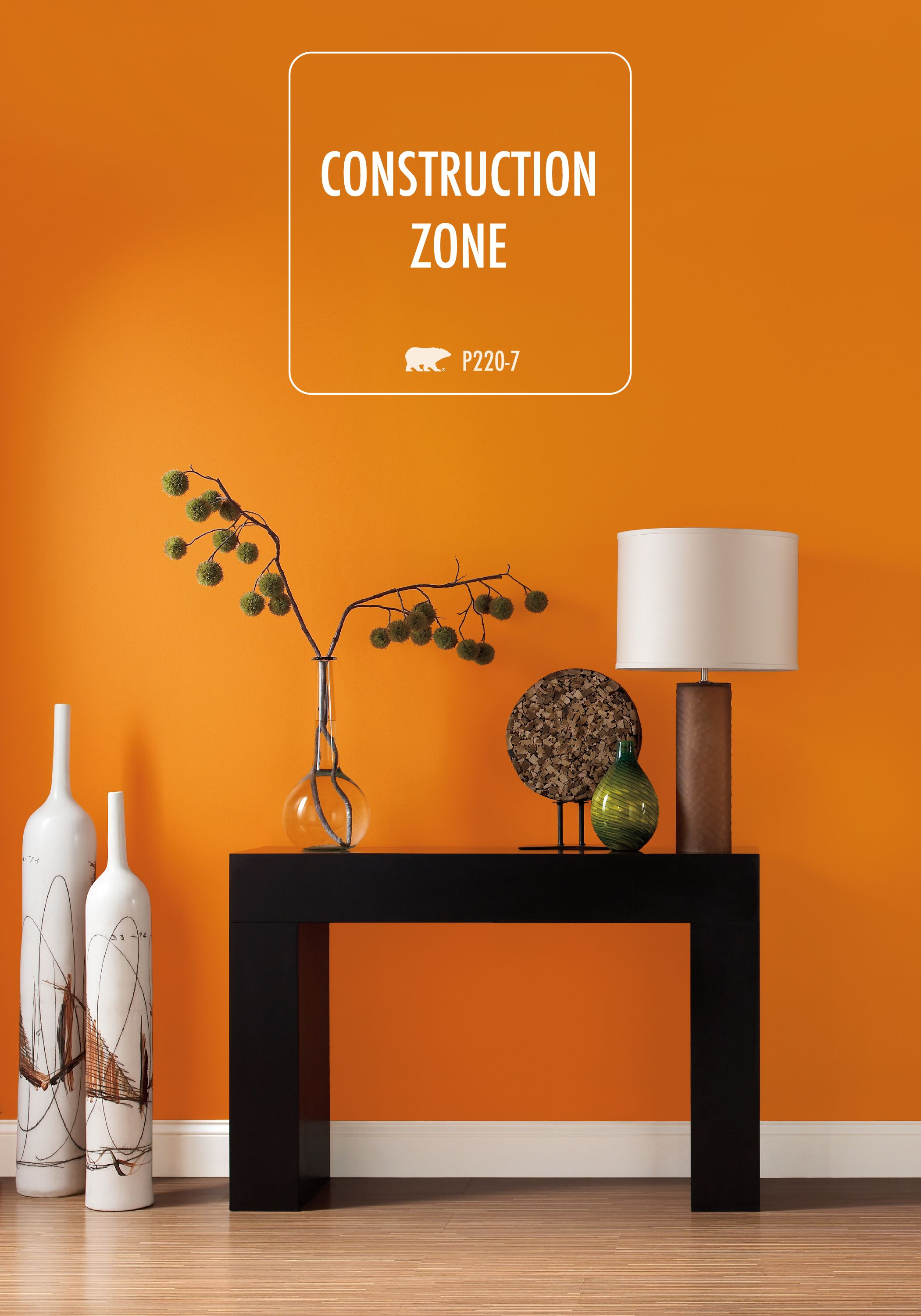 Bring Vibrancy To Your Home With This Stunning Shade Of Behr Paint In Construction Zone Try Balancing Out Eclectic Color By Bringing Streamlined
