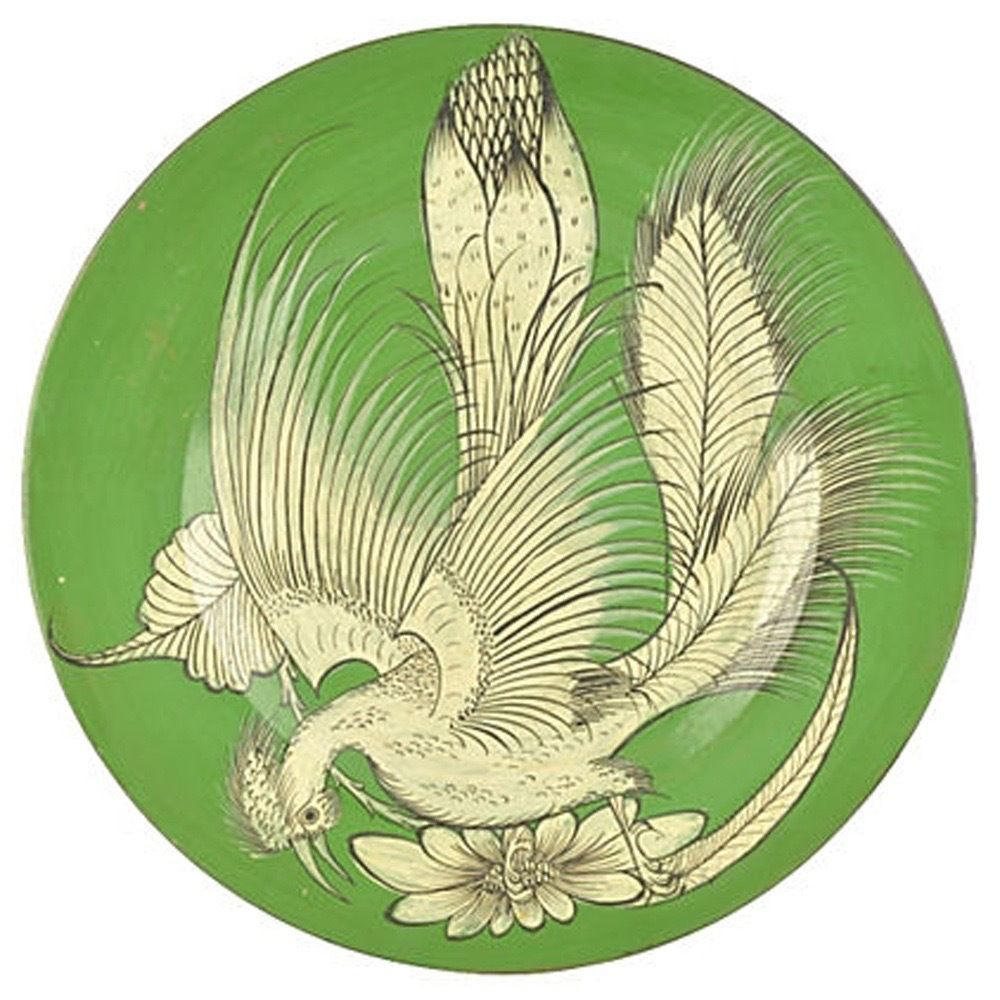 Vintage Mexican Pottery Bruñido Bird Wall Charger Tlaquepaque 17 ...