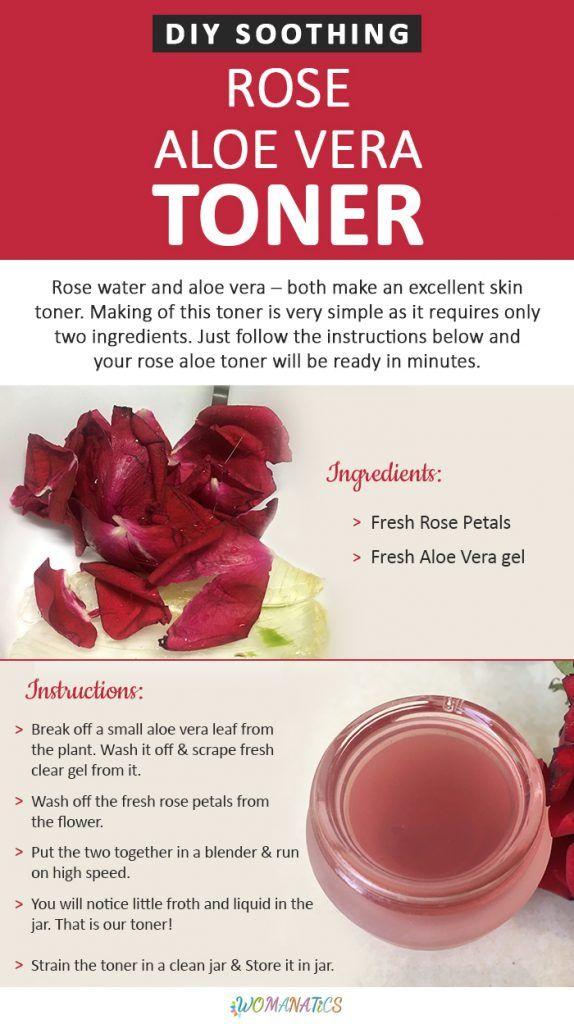 Diy Soothing Rose Aloe Vera Toner Aloe Vera Toner Natural Skin Care Beauty Skin Care