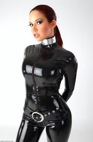 Latex slave suit