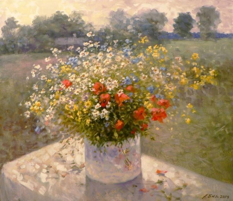 Don hatfield flower painting painting art