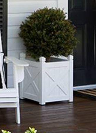 40cm Planter Box White White Planter Boxes White Planters Hampton Garden