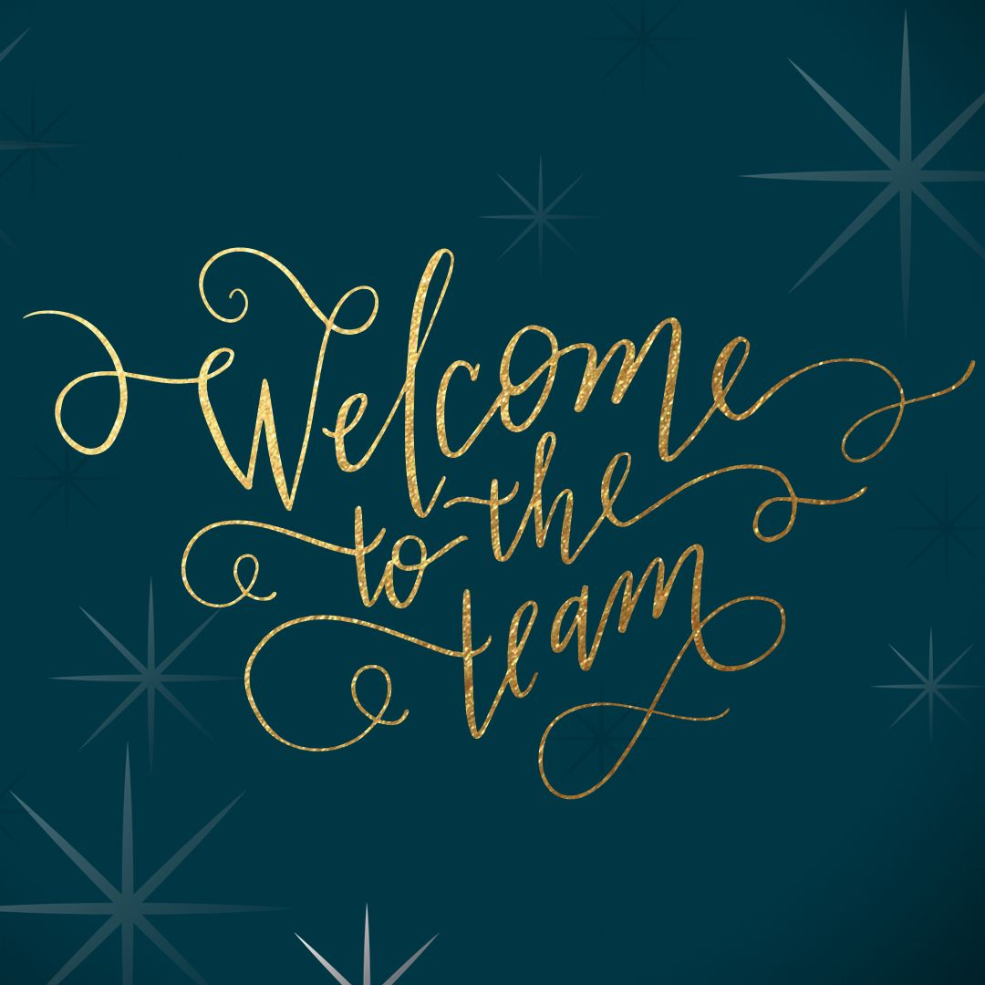Sparkling Welcome Welcome To The Team Welcome To The Team Card Welcome Card