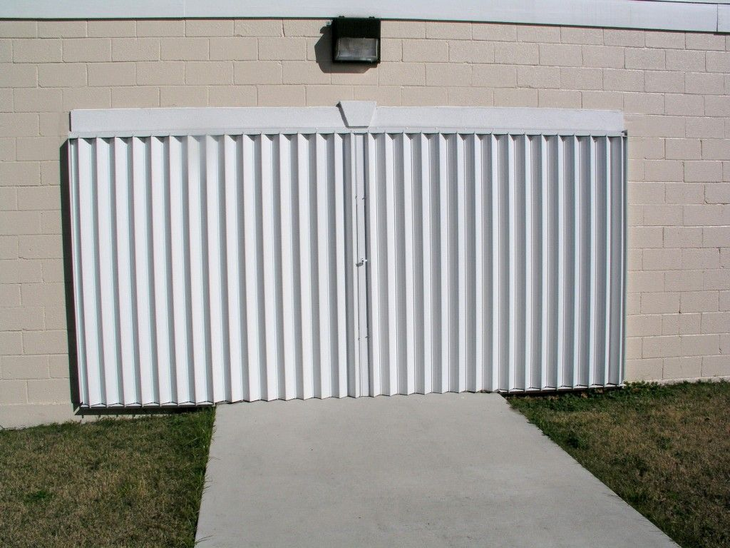 Accordion Shutters At With Images Accordion Shutters Shutters Window Types