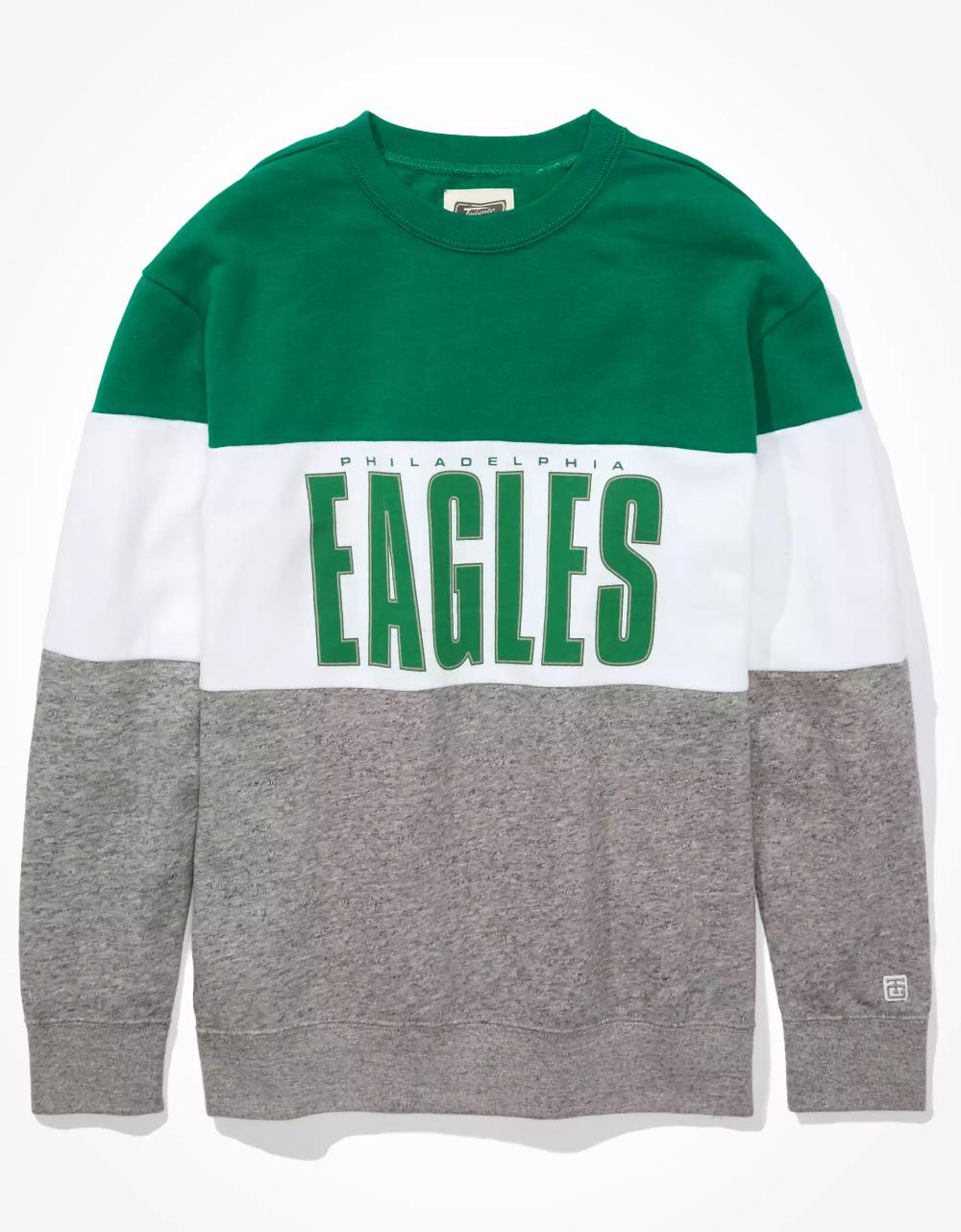 Tailgate Women S Philadelphia Eagles Colorblock Sweatshirt Color Block Sweatshirt Sweatshirts Eagles Sweatshirt [ 1282 x 1000 Pixel ]
