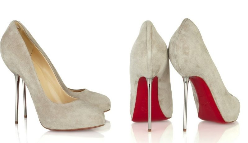 39ca5b3883b Christian Louboutin grey dove suede stilettos. Ana s shoes from 50 Shade  )  ....these are gorgeous