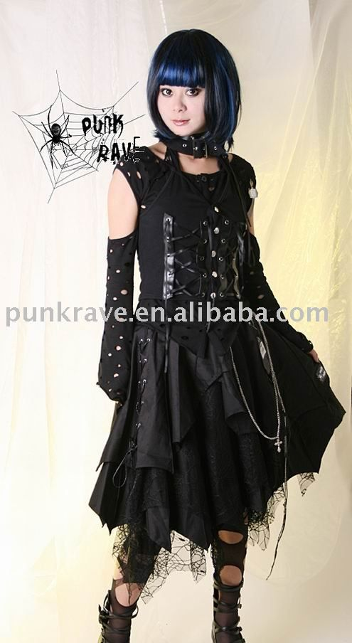 Fashion Supplier Apparel Sarong Announces The New: Q-013 Gothic Fashion Skirt From Punk Rave , Find Complete