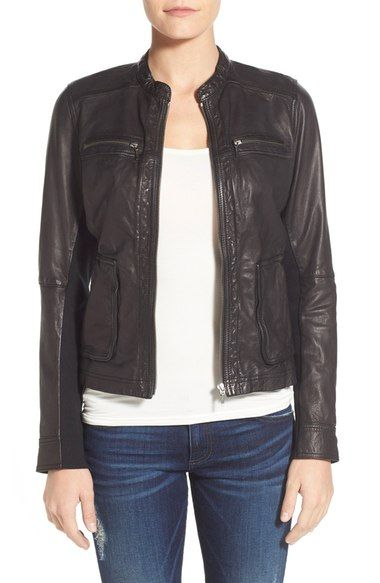 1851d29ac312 Caslon® Washed Leather Jacket available at  Nordstrom