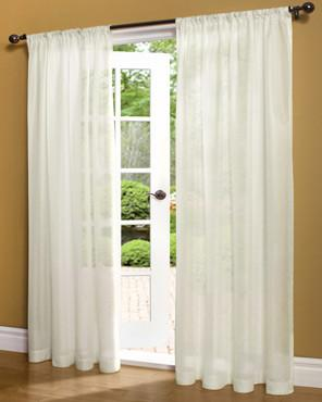 Weathershield Lined Sheer Rod Pocket Panel White Paneling Panel