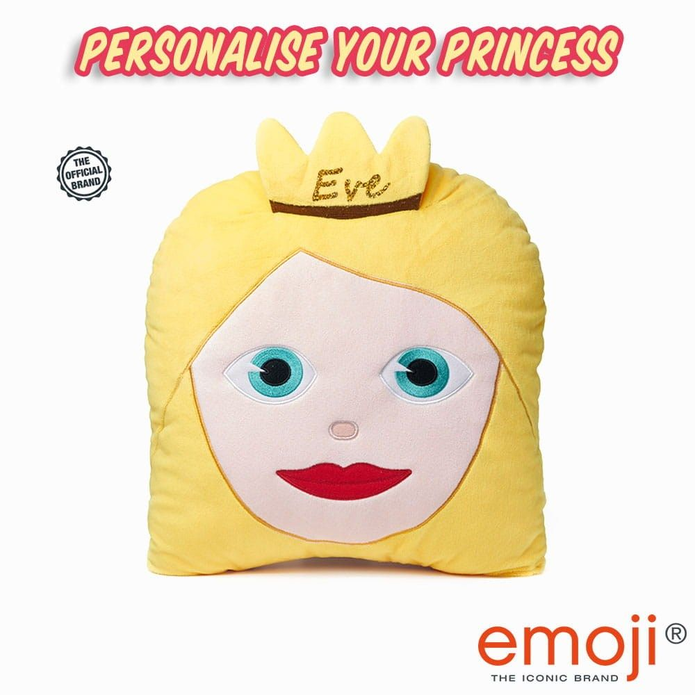 Personalised princess emoji brand cushion emoji and princess
