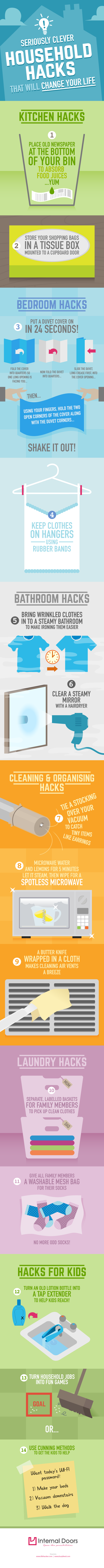 Clever Household Hacks #infographic