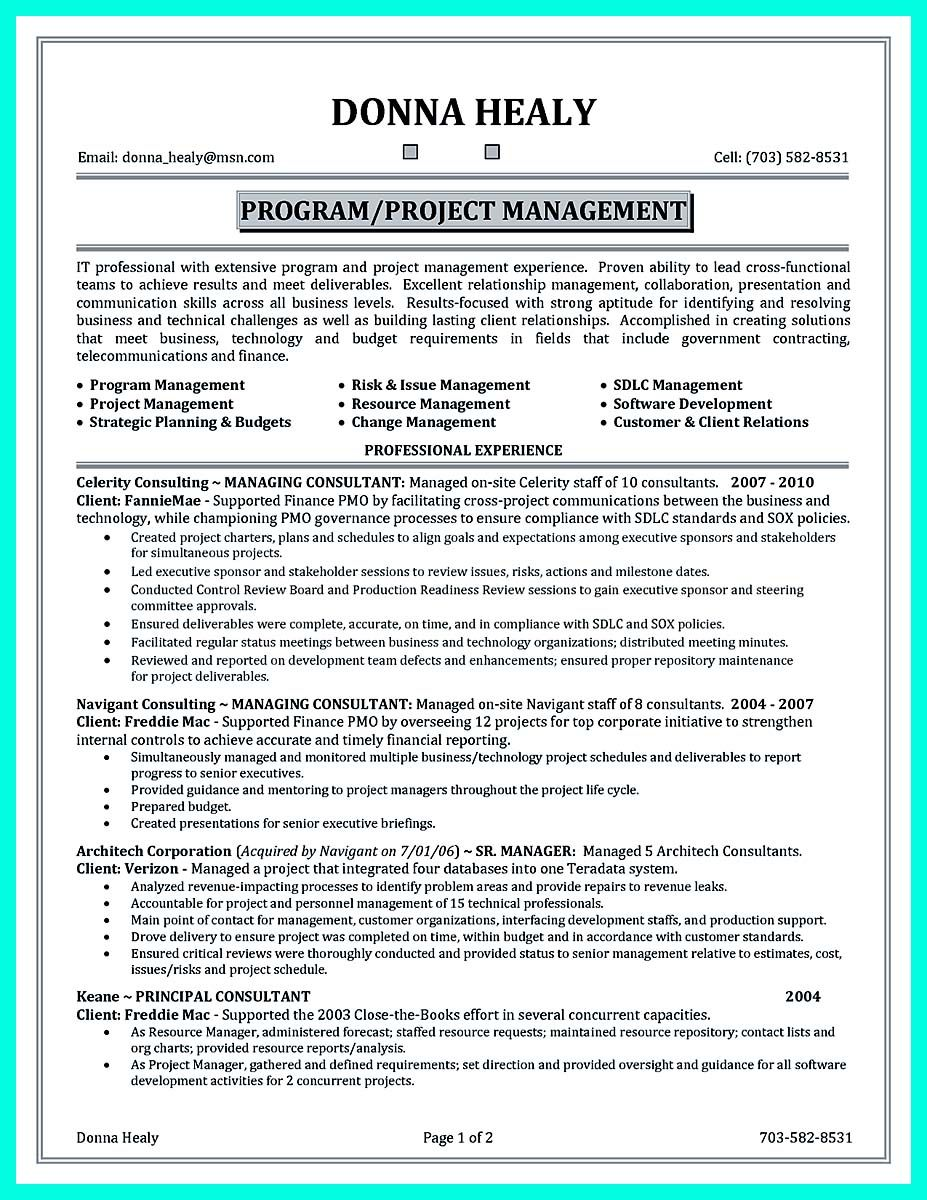 Nice Cool Construction Project Manager Resume To Get Applied