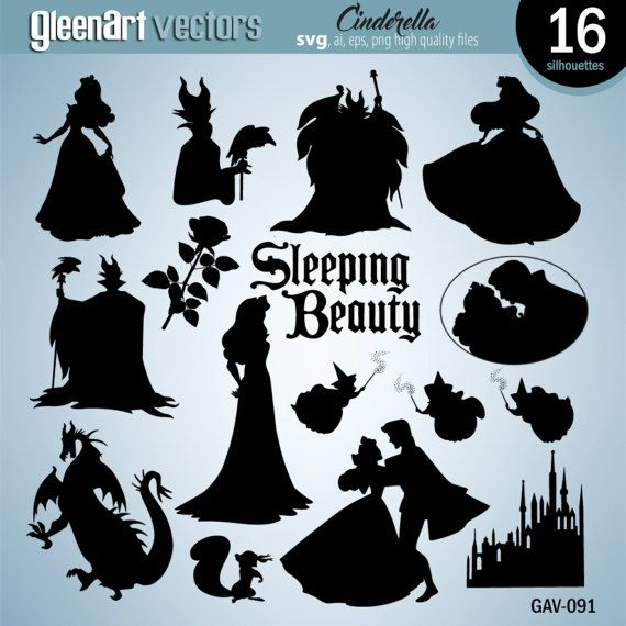 50 Off Sale Sleeping Beauty Silhouette Clipart Digital Etsy In 2021 Disney Silhouette Art Sleeping Beauty Fairies Disney Silhouettes