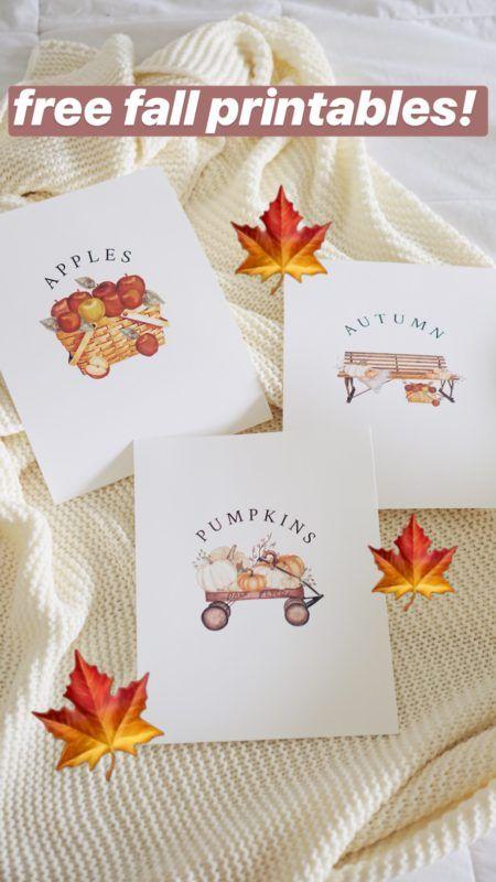 DIY FALL HOME DECOR   FREE PRINTABLES! So cute for fall! Fall