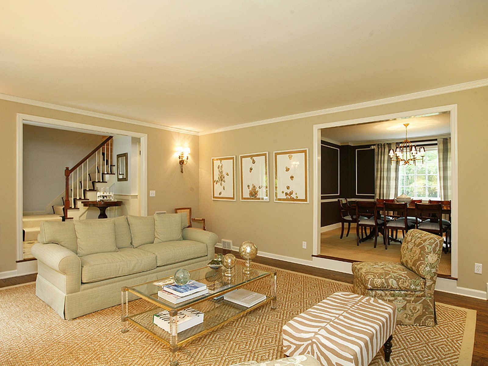 Formal Living Room Ideas  I Like That The Living Room And Dining Room  Appear To Have The Same Rug Color