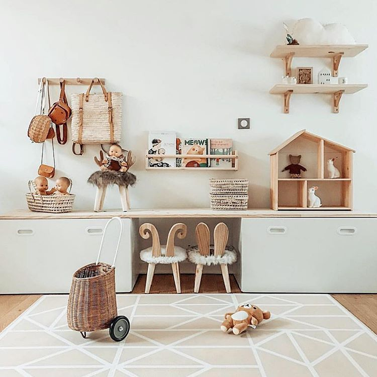 """Photo of Olli Ella on Instagram: """"A sheet of plywood and some ikea drawers and just look at how @faustine.rose in France has created a playroom of our dreams! Pops of Olli…"""""""