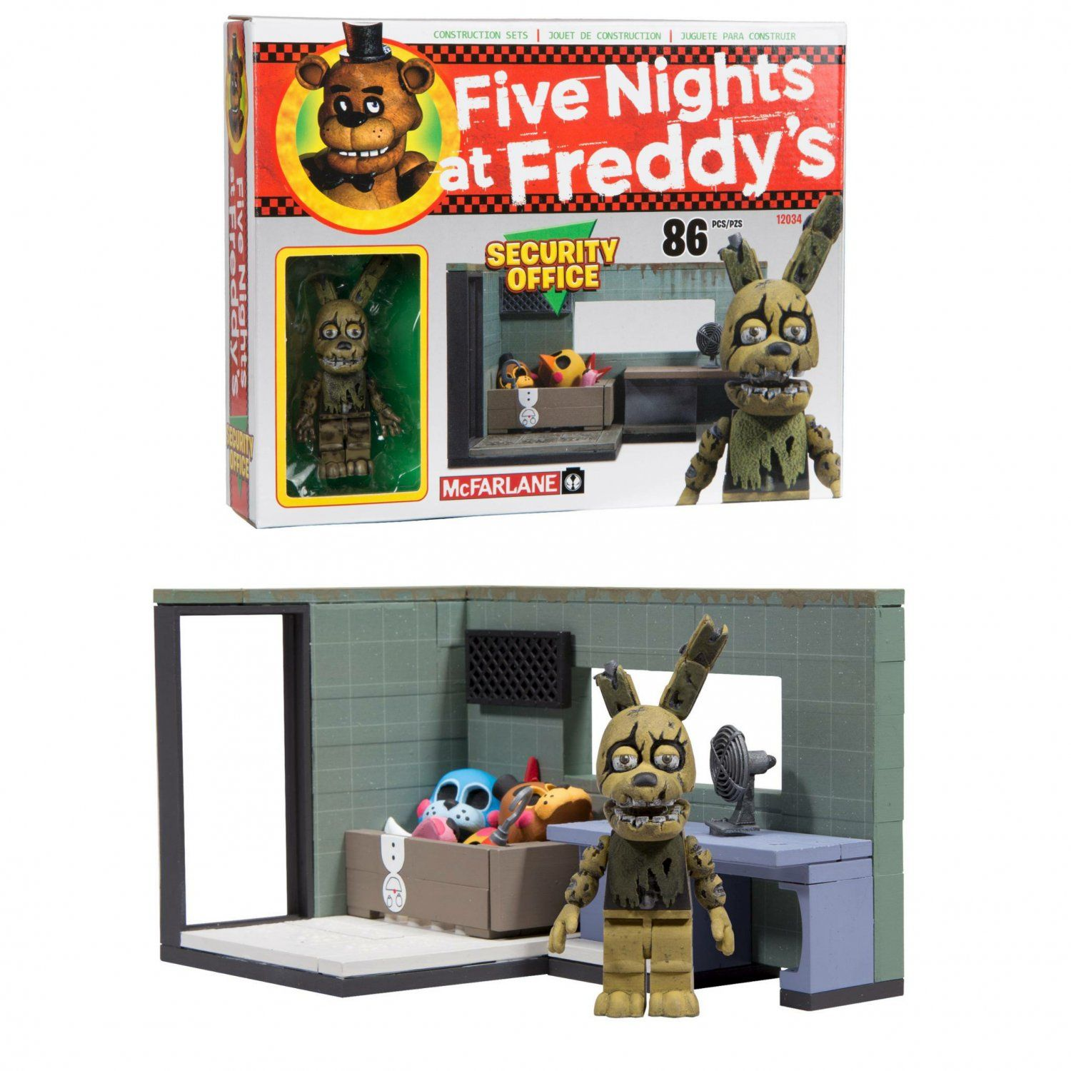 More five nights at freddy s construction sets coming soon - Five Nights At Freddy S Fnaf Mcfarlane Security Office With Springtrap Buildable Construction Set